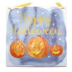 Happy Halloween Jack OLantern Pumpkin Wall Hanging